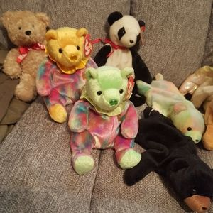 Lot of 10 Retired TY Beanie Babies